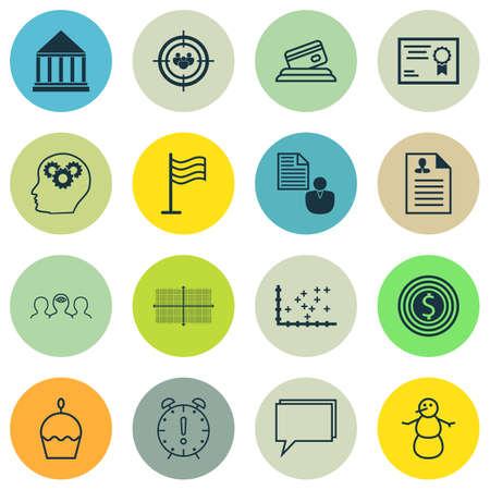 Ensemble de 16 icônes modifiables universelles. Peut être utilisé pour le Web, Mobile et App Design. Comprend des icônes telles que le diagramme carré, l'objectif commercial, le centre de formation et bien plus encore.