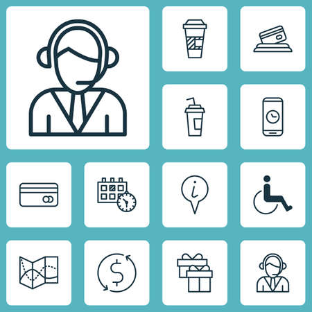 accessibility: Set Of Airport Icons On Operator, Accessibility And Road Map Topics. Editable Vector Illustration. Includes Exchange, Paralyzed, Debit And More Vector Icons.