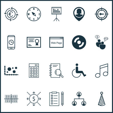 crotchets: Set Of 20 Universal Editable Icons. Can Be Used For Web, Mobile And App Design. Includes Icons Such As Crotchets, Website, Cosinus Diagram And More.