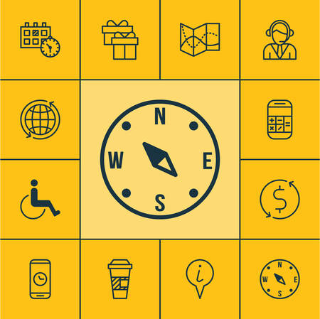 paralyzed: Set Of Traveling Icons On Road Map, World And Money Trasnfer Topics. Editable Vector Illustration. Includes World, Takeaway, Paralyzed And More Vector Icons. Illustration
