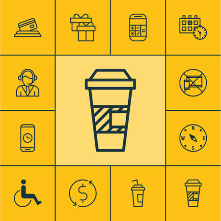 accessibility: Set Of Transportation Icons On Appointment, Drink Cup And Accessibility Topics. Editable Vector Illustration. Includes Paper, Center, Dollar And More Vector Icons.