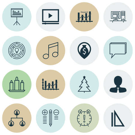 crotchets: Set Of 16 Universal Editable Icons. Can Be Used For Web, Mobile And App Design. Includes Icons Such As Money Navigation, Crotchets, Manager And More.