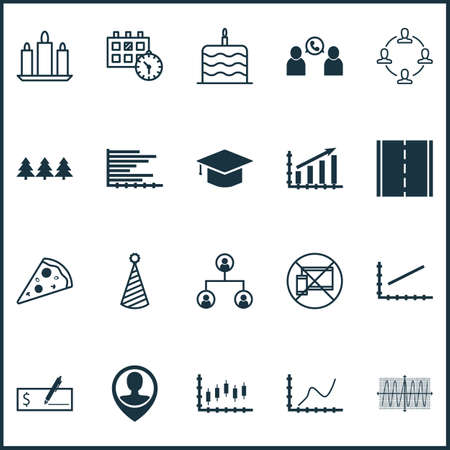 cosinus: Set Of 20 Universal Editable Icons. Can Be Used For Web, Mobile And App Design. Includes Icons Such As Holiday Ornament, Cosinus Diagram, Photo Camera And More.