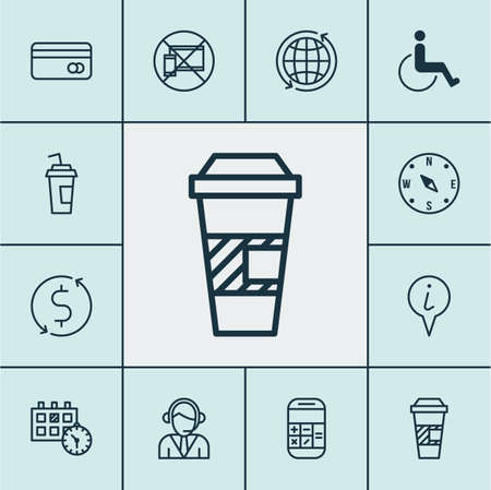 Set Of Transportation Icons On Locate, Accessibility And Calculation Topics. Editable Vector Illustration. Includes Calculation, Dollar, World And More Vector Icons.