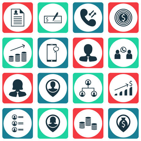 topics: Set Of Hr Icons On Cellular Data, Job Applicants And Bank Payment Topics. Editable Vector Illustration. Includes Profile, Conference, Cellular And More Vector Icons.