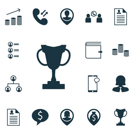 sms payment: Set Of Management Icons On Business Woman, Coins Growth And Pin Employee Topics. Editable Vector Illustration. Includes Male, Chat, Resume And More Vector Icons.