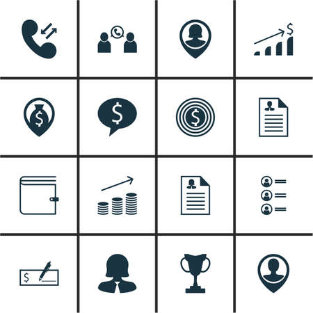 list of successful candidates: Set Of Management Icons On Tournament, Business Woman And Money Navigation Topics. Editable Vector Illustration. Includes Discussion, Money, Profile And More Vector Icons.