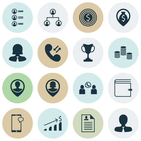 topics: Set Of Hr Icons On Pin Employee, Wallet And Employee Location Topics. Editable Vector Illustration. Includes Employee, Increase, Cash And More Vector Icons.