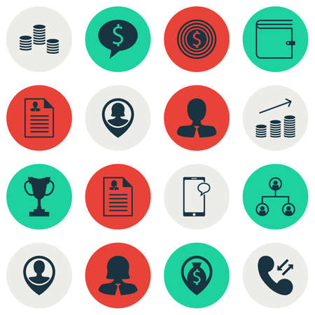 topics: Set Of Hr Icons On Coins Growth, Curriculum Vitae And Tournament Topics. Editable Vector Illustration. Includes Opinion, Pin, Organisation And More Vector Icons.