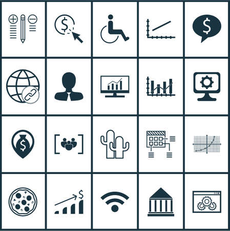 dynamic html: Set Of 20 Universal Editable Icons. Can Be Used For Web, Mobile And App Design. Includes Icons Such As PC, PPC, Pizza Meal And More.