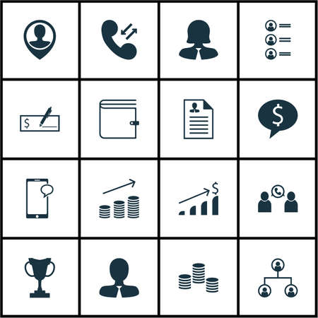 topics: Set Of Hr Icons On Manager, Business Woman And Job Applicants Topics. Editable Vector Illustration. Includes Mobile, Call, Job And More Vector Icons.