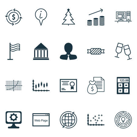 Set Of 20 Universal Editable Icons. Can Be Used For Web, Mobile And App Design. Includes Icons Such As Innovation, Line Grid, Education Center And More.