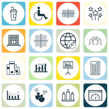 magazine stack: Set Of 16 Universal Editable Icons. Can Be Used For Web, Mobile And App Design. Includes Icons Such As Accessibility, Airport Construction, Graphical Grid And More.