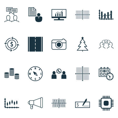 christmas debt: Set Of 20 Universal Editable Icons. Can Be Used For Web, Mobile And App Design. Includes Icons Such As Chip, Raise Diagram, Phone Conference And More. Illustration