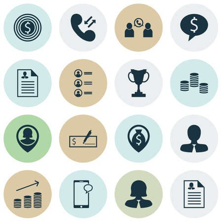 the applicant: Set Of Human Resources Icons On Messaging, Female Application And Job Applicants Topics. Editable Vector Illustration. Includes Phone, Discussion, Application And More Vector Icons.