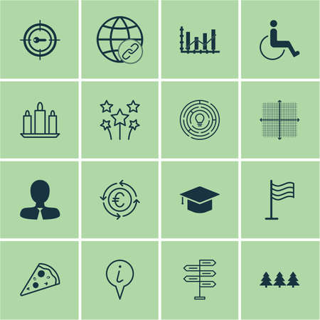 raise: Set Of 16 Universal Editable Icons. Can Be Used For Web, Mobile And App Design. Includes Icons Such As Festive Fireworks, Manager, Raise Diagram And More. Illustration