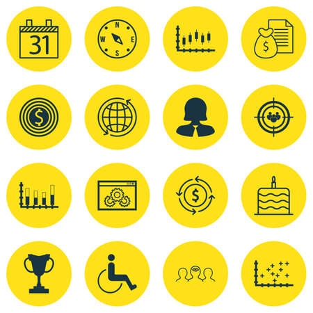 accessibility: Set Of 16 Universal Editable Icons. Can Be Used For Web, Mobile And App Design. Includes Icons Such As Business Woman, Accessibility, Tournament And More.