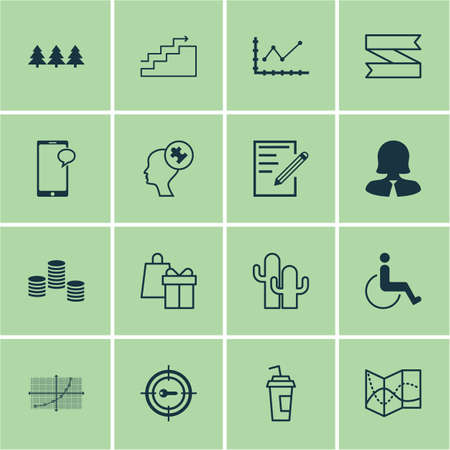 grid paper: Set Of 16 Universal Editable Icons. Can Be Used For Web, Mobile And App Design. Includes Icons Such As Human Mind, Line Grid, Paper And More.