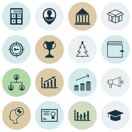 application recycle: Set Of 16 Universal Editable Icons. Can Be Used For Web, Mobile And App Design. Includes Icons Such As Graduation, Coins Growth, Tournament And More. Illustration