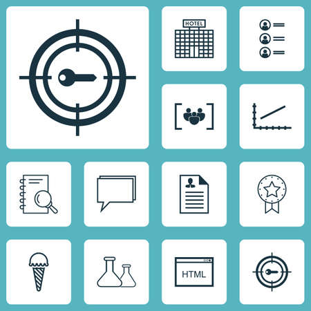 Set Of 12 Universal Editable Icons. Can Be Used For Web, Mobile And App Design. Includes Icons Such As Conference, Chemical, Analysis And More.