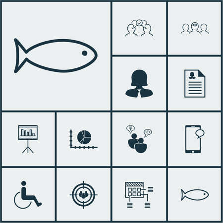 consumer society: Set Of 12 Universal Editable Icons. Can Be Used For Web, Mobile And App Design. Includes Icons Such As Coaching, Focus Group, Business Woman And More.