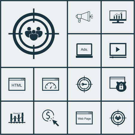 keyword research: Set Of Marketing Icons On Keyword Optimisation, Coding And Market Research Topics. Editable Vector Illustration. Includes Keyword, Speed, Comprehensive And More Vector Icons.