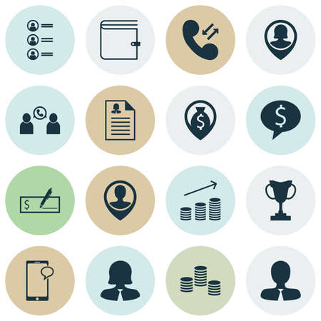 more money: Set Of Human Resources Icons On Money, Money Navigation And Wallet Topics. Editable Vector Illustration. Includes Female, Pin, Resume And More Vector Icons.