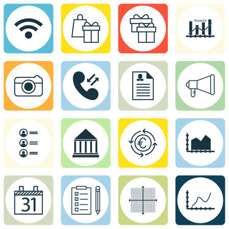 pillar box: Set Of 16 Universal Editable Icons. Can Be Used For Web, Mobile And App Design. Includes Icons Such As Street, Shopping, Achievement Graph And More.
