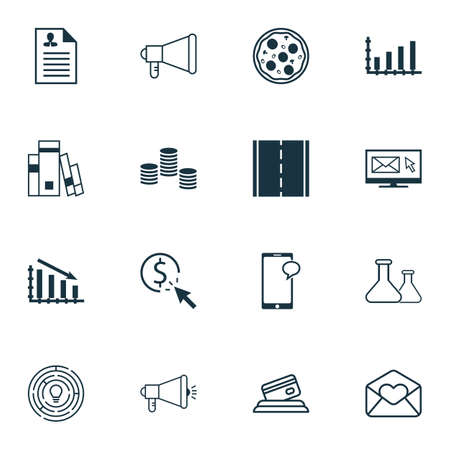 fast money: Set Of 16 Universal Editable Icons. Can Be Used For Web, Mobile And App Design. Includes Icons Such As Chemical, Photo Camera, Innovation And More.
