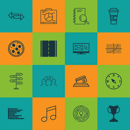 withdraw: Set Of 16 Universal Editable Icons. Can Be Used For Web, Mobile And App Design. Includes Icons Such As Line Grid, Tournament, Crossroad And More.