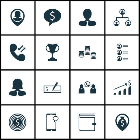 first form: Set Of Hr Icons On Business Deal, Business Woman And Tournament Topics. Editable Vector Illustration. Includes Phone, Chat, Cash And More Vector Icons.