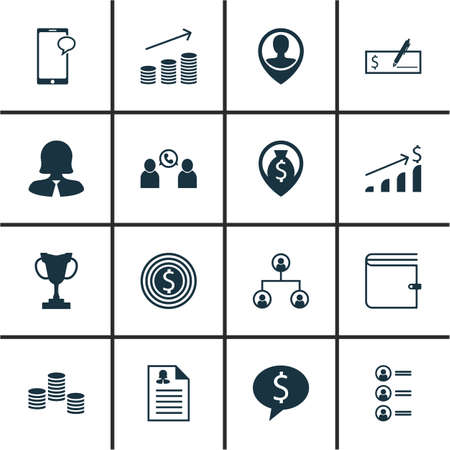 more money: Set Of Human Resources Icons On Job Applicants, Money And Money Navigation Topics. Editable Vector Illustration. Includes Profile, Organisation, Cup And More Vector Icons. Illustration