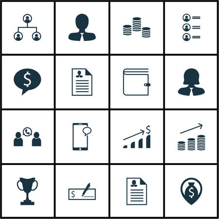 list of successful candidates: Set Of Hr Icons On Business Woman, Business Deal And Wallet Topics. Editable Vector Illustration. Includes Check, Male, Bank And More Vector Icons.