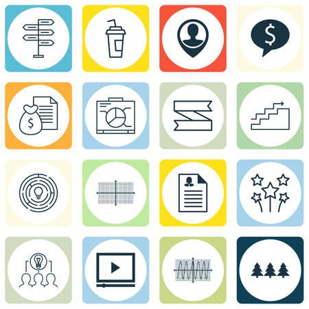 collaborative: Set Of 16 Universal Editable Icons. Can Be Used For Web, Mobile And App Design. Includes Icons Such As Cosinus Diagram, Holiday Ornament, Drink Cup And More. Illustration