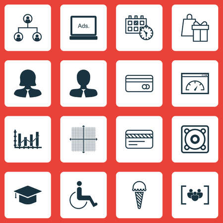 armchair shopping: Set Of 16 Universal Editable Icons. Can Be Used For Web, Mobile And App Design. Includes Icons Such As Tree Structure, Loading Speed, Digital Media And More.