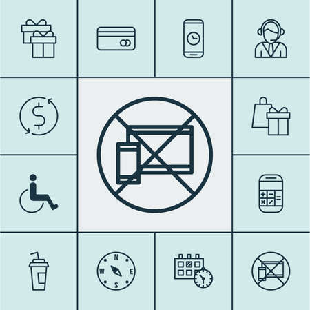 paralyzed: Set Of Travel Icons On Plastic Card, Shopping And Locate Topics. Editable Vector Illustration. Includes Paralyzed, Box, Exchange And More Vector Icons. Illustration