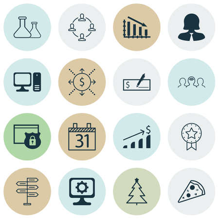 Set Of 16 Universal Editable Icons. Can Be Used For Web, Mobile And App Design. Includes Icons Such As Date, Money, Coaching And More.