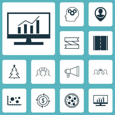 Set Of 12 Universal Editable Icons. Can Be Used For Web, Mobile And App Design. Includes Icons Such As Comparison, Money Recycle, Cooperation And More.
