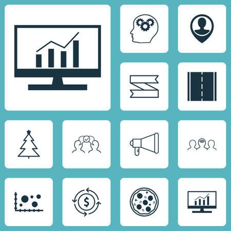 Ensemble de 12 icônes modifiables universelles. Peut être utilisé pour le Web, Mobile et App Design. Comprend des icônes telles que la comparaison, le recyclage de l'argent, la coopération et bien plus encore.
