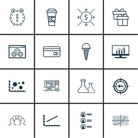 up code: Set Of 16 Universal Editable Icons. Can Be Used For Web, Mobile And App Design. Includes Icons Such As Plastic Card, Line Graph, Website Performance And More.