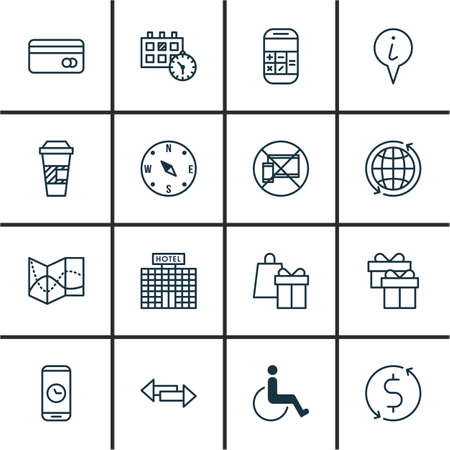 infirm: Set Of Airport Icons On Shopping, Locate And Takeaway Coffee Topics. Editable Vector Illustration. Includes Travel, Appointment, Exchange And More Vector Icons.