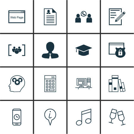master volume: Set Of 16 Universal Editable Icons. Can Be Used For Web, Mobile And App Design. Includes Icons Such As Questionnaire, Investment, Info Pointer And More. Illustration