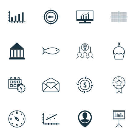 romance strategies: Set Of 16 Universal Editable Icons. Can Be Used For Web, Mobile And App Design. Includes Icons Such As Present Badge, Locate, Market Research And More.