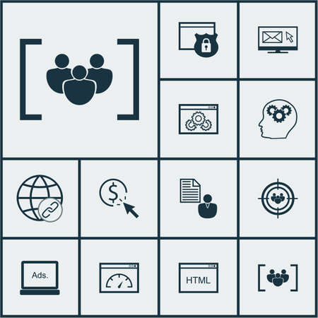Set Of Advertising Icons On Questionnaire, Security And Connectivity Topics. Editable Vector Illustration. Includes Group, Creativity, Per And More Vector Icons.