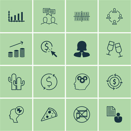 cosinus: Set Of 16 Universal Editable Icons. Can Be Used For Web, Mobile And App Design. Includes Icons Such As Brain Process, Money Recycle, Cosinus Diagram And More.