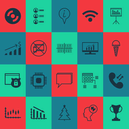 microprocessor: Set Of 20 Universal Editable Icons. Can Be Used For Web, Mobile And App Design. Includes Icons Such As Stock Market, Human Mind, Tournament And More. Illustration