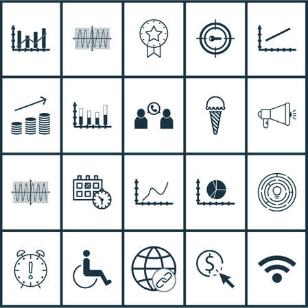 segmented: Set Of 20 Universal Editable Icons. Can Be Used For Web, Mobile And App Design. Includes Icons Such As Circle Graph, PPC, Segmented Bar Graph And More.