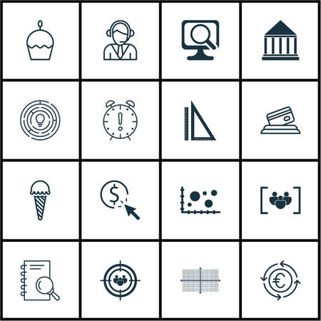 frozen food: Set Of 16 Universal Editable Icons. Can Be Used For Web, Mobile And App Design. Includes Icons Such As Frozen Food, Questionnaire, Operator And More.