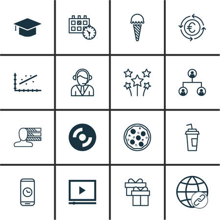 frozen food: Set Of 16 Universal Editable Icons. Can Be Used For Web, Mobile And App Design. Includes Icons Such As Frozen Food, Operator, Currency Recycle And More.