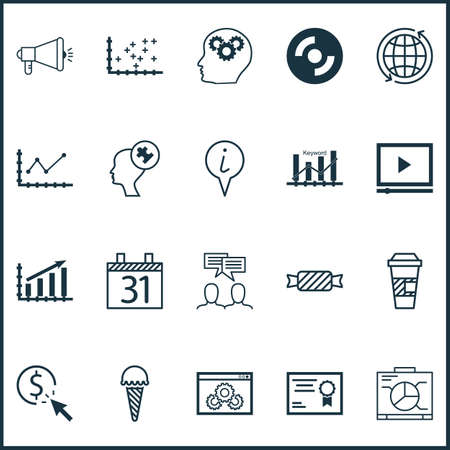 application recycle: Set Of 20 Universal Editable Icons. Can Be Used For Web, Mobile And App Design. Includes Icons Such As Info Pointer, Board, Changes Graph And More.